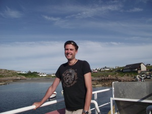 Here I am setting sail for Iona in July 2013